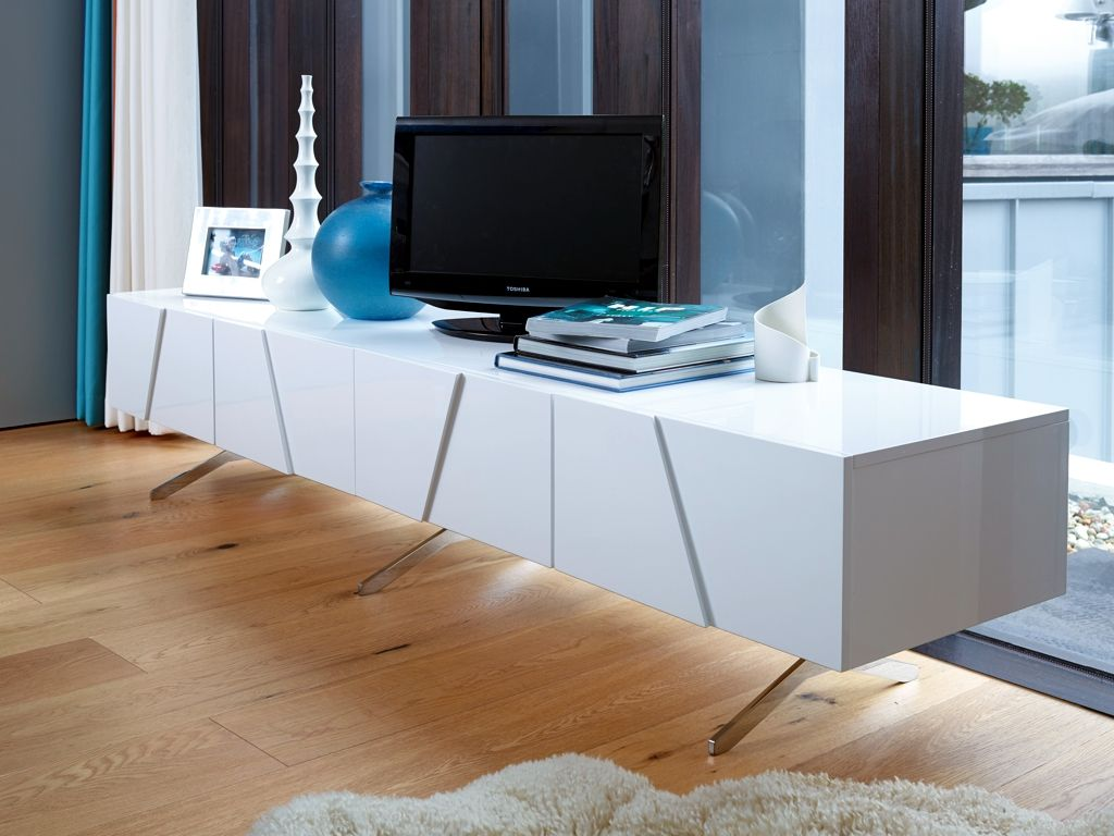 GillmoreSPACE | Double length low media sideboard - Glacier ...