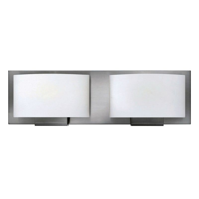 Photo of Hinkley Lighting 53552BN-LED Brushed Nickel Mila 2 Light 16″ Wide LED Bathroom Vanity Light with Frosted Glass – ADA Compliant