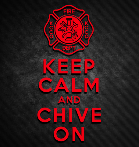 Keep Calm and Chive On Fire Department Sticker - KCCOdecals.com