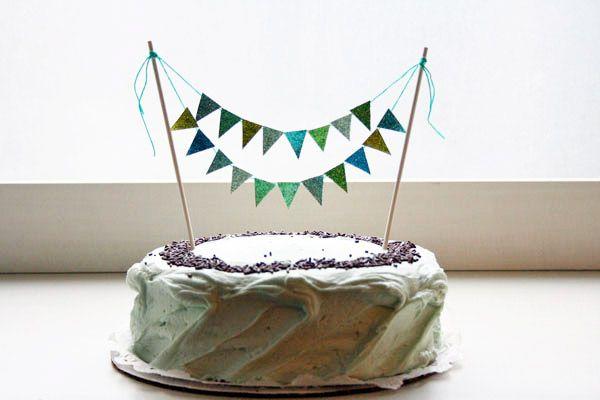 DIY Glitter Cake Bunting Cake bunting Garlands and Cake