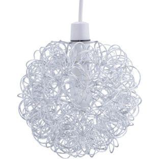 Bathroom Light Fixtures Argos buy living scribble aluminium ball ceiling light shade - chrome at