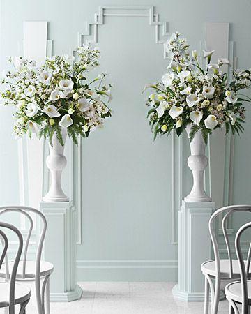 Wedding Flower Ideas For Every Style Of Bride Wedding Ceremony Flowers Church Flowers Altar Flowers