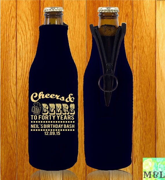 Birthday Koozie Quotes: Customized Birthday Koozies Zipper Bottle Koozies By