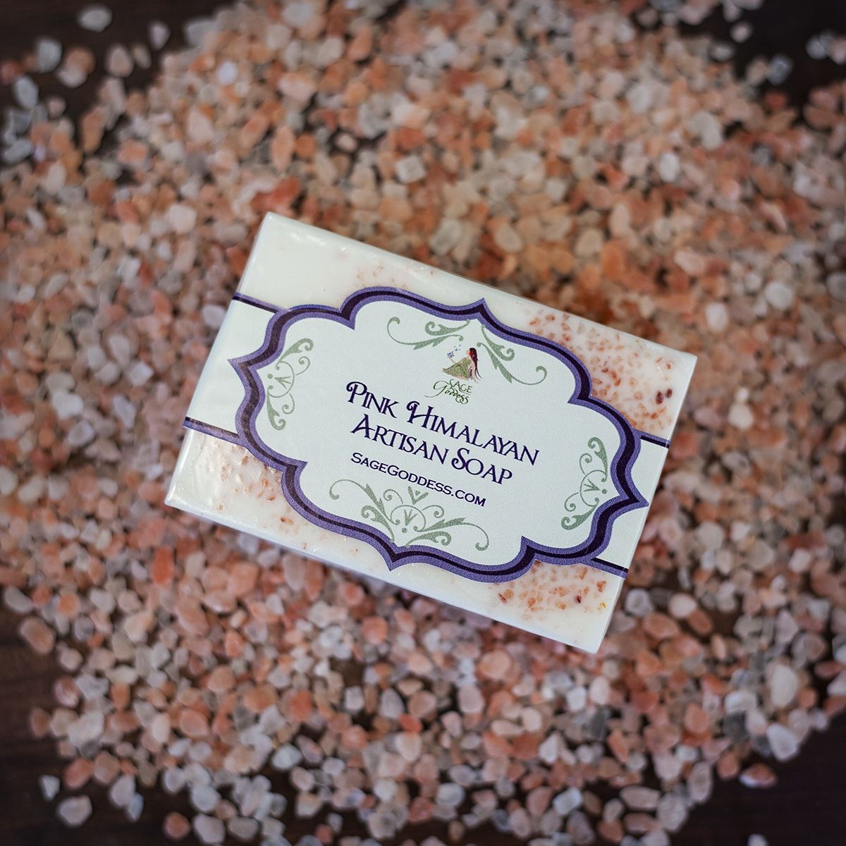 Pink Himalayan Salt Artisan Soap for powerful physical and