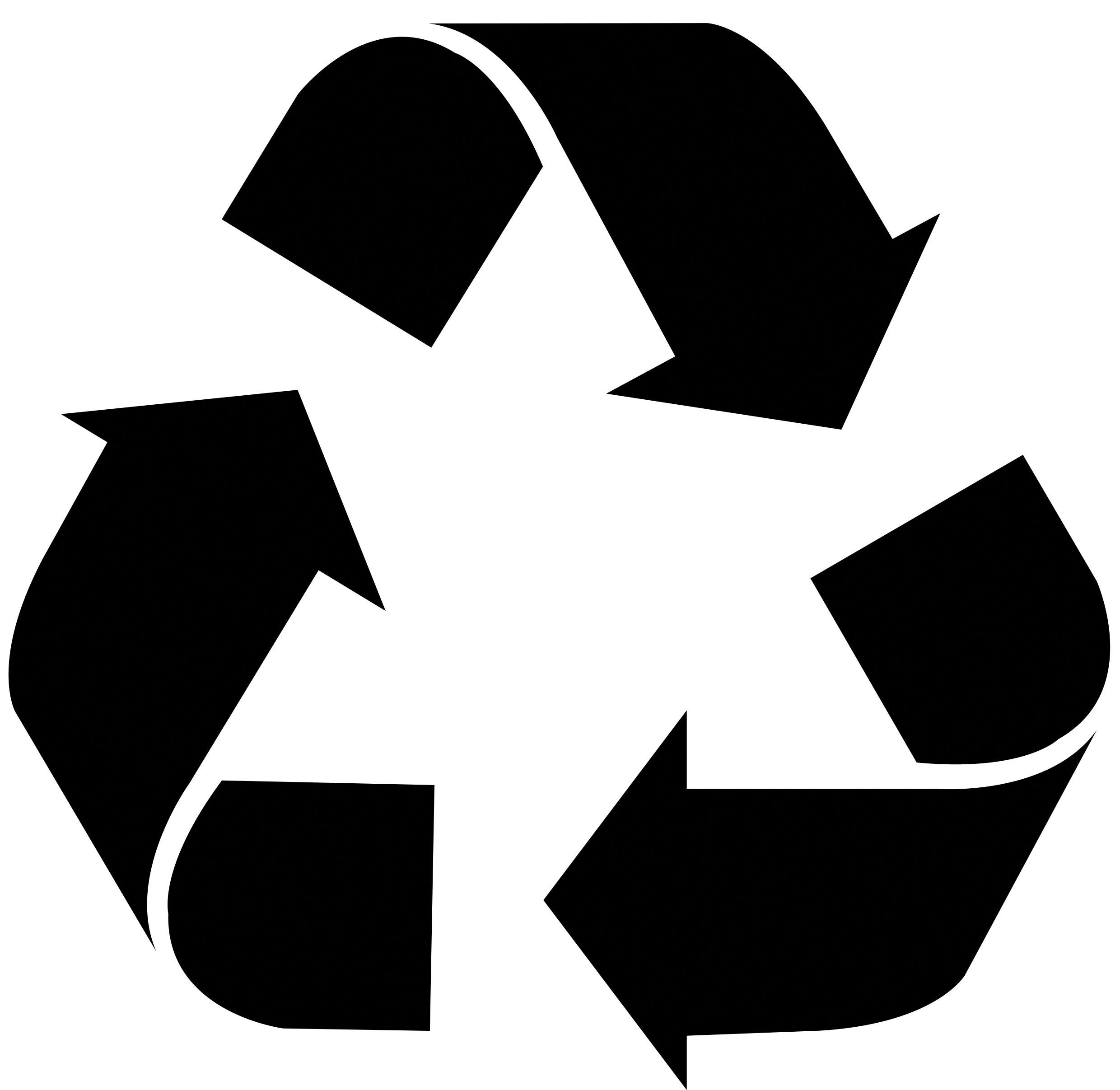Recycle logo free large images recycling pinterest for Recycle stencil printable