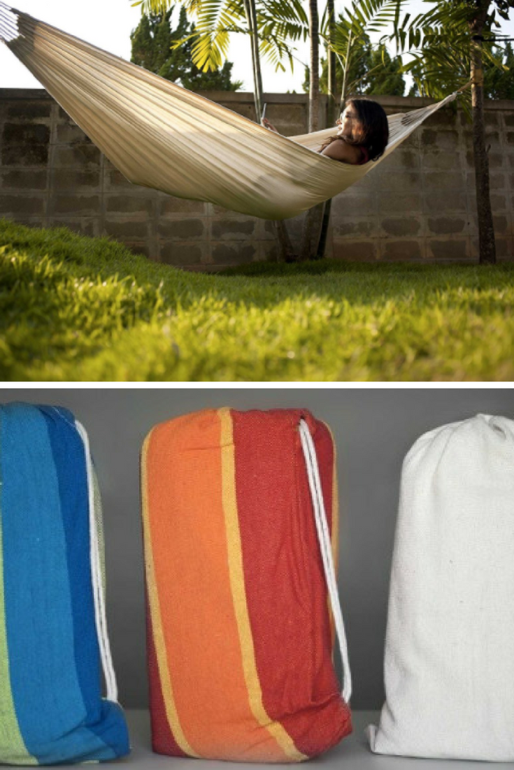 These cotton hammocks are tightly woven with comfortable long