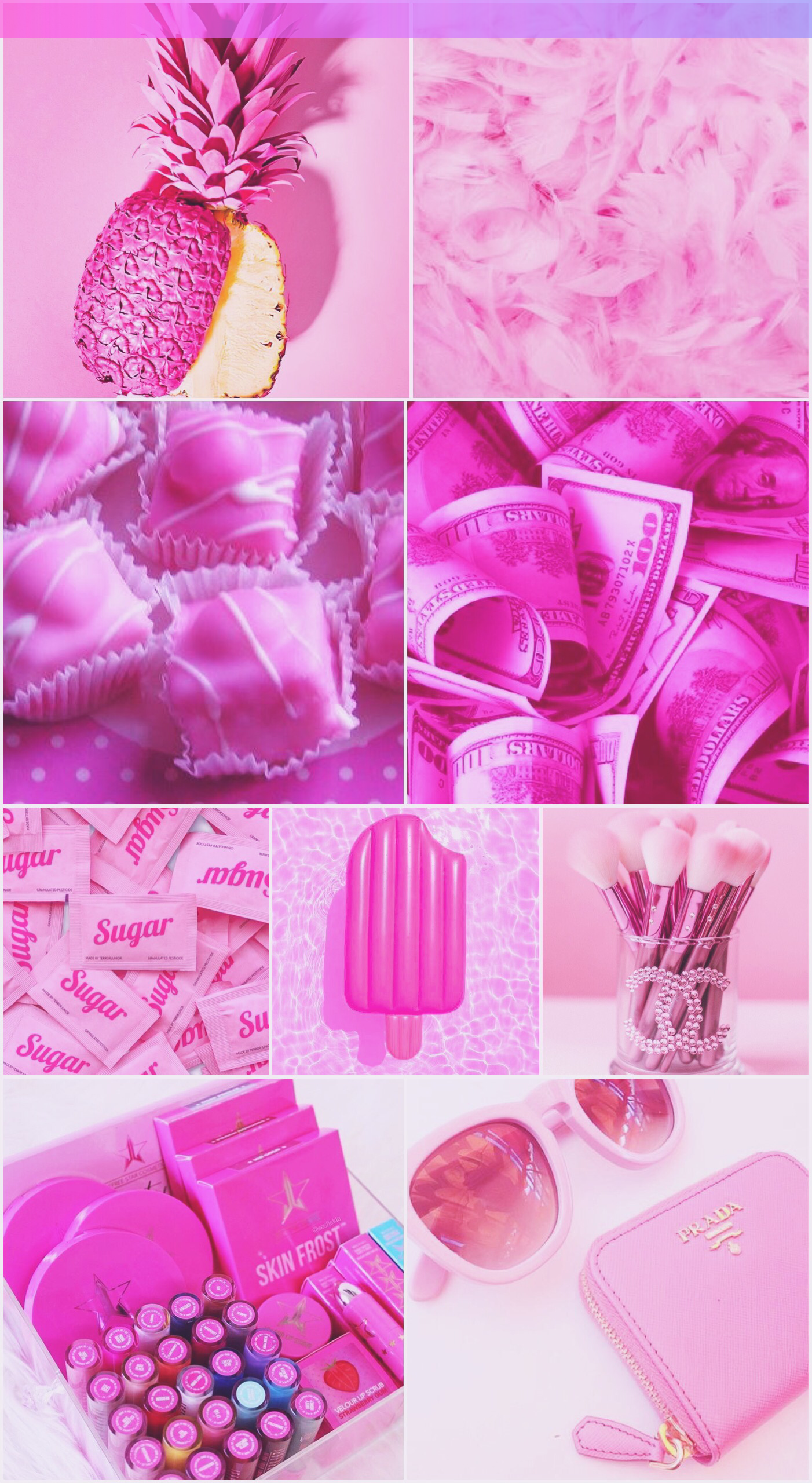 wallpaper background collage iphone android pink girly summer