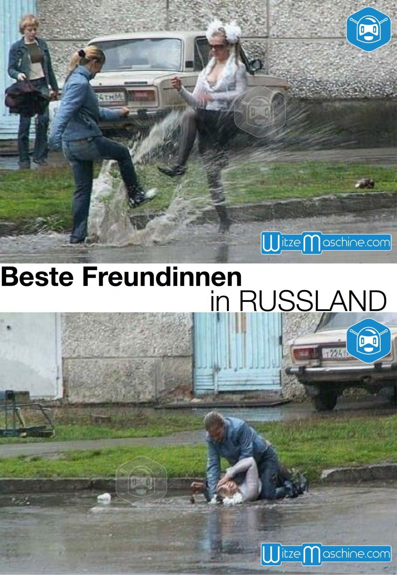 Beste Freundinnen in Russland - BFF Schlägerei - Funny