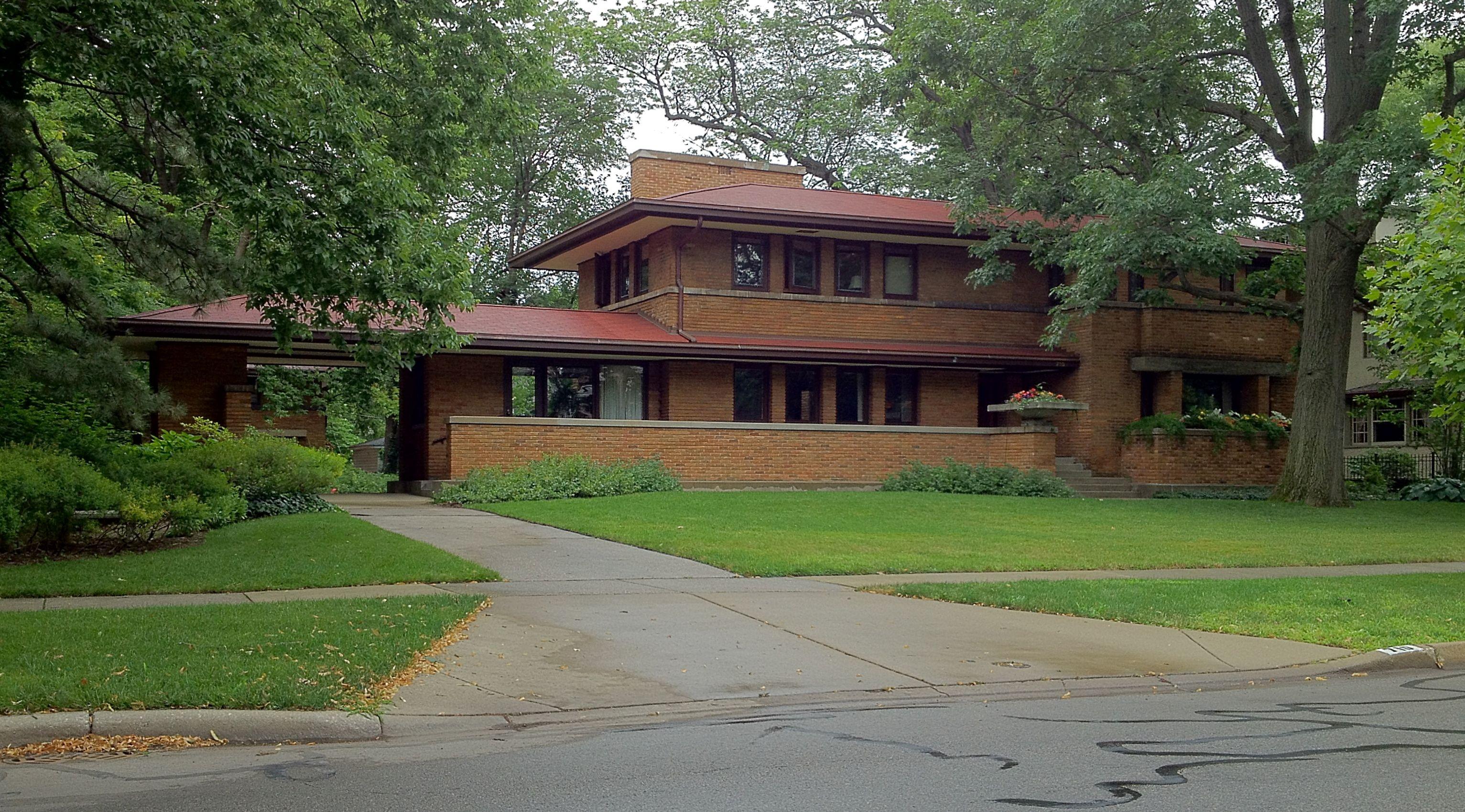 Frank Lloyd Wright S Oak Park Illinois Designs The Prairie Period 1900 1913 Frank Lloyd Wright Homes Frank Lloyd Wright Style Frank Lloyd Wright