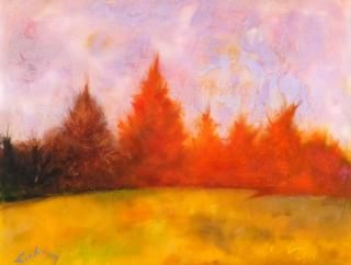 """Autumnal Splendor,"" acrylic on panel by Al Lachman. SOURCE SUBMITTED"