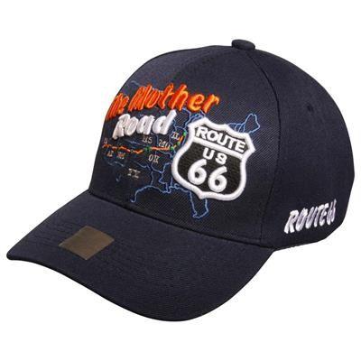 4c46fb53b08 DKK 149,00 Navy Blå Route 66 Cap #baseballcap #cap #kasket #route66cap  #route66 #usshopnu