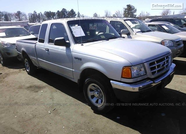 Salvagetruck 2002 Ford Ranger For Sale At Salvagebid Join Live