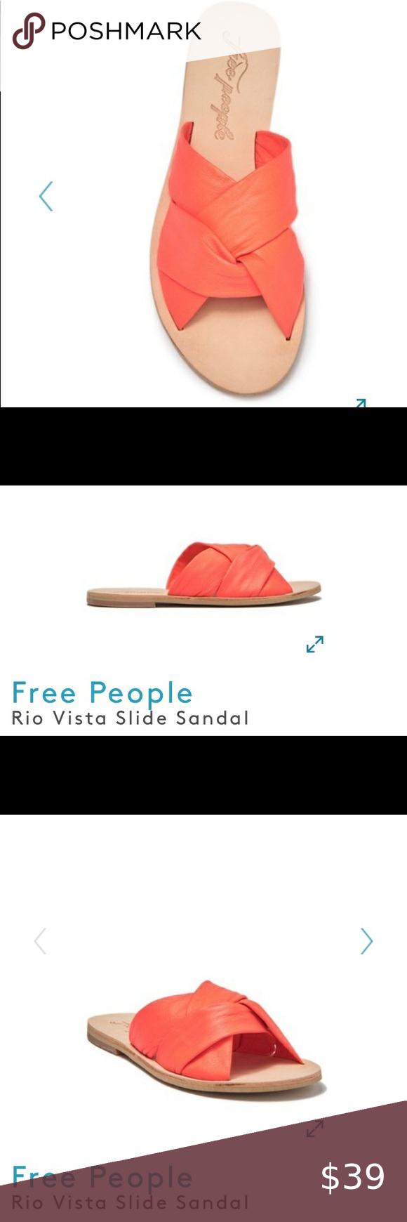 Free People Rio Vista Leather Slide Sandal Leather Slide Sandals Leather Slides Slide Sandals