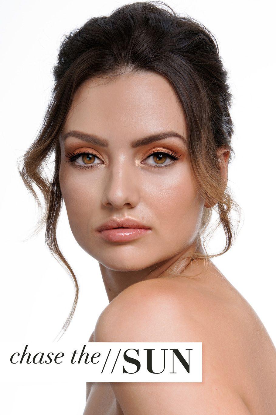 understated beautiful skin bronzed makeup look Bronze