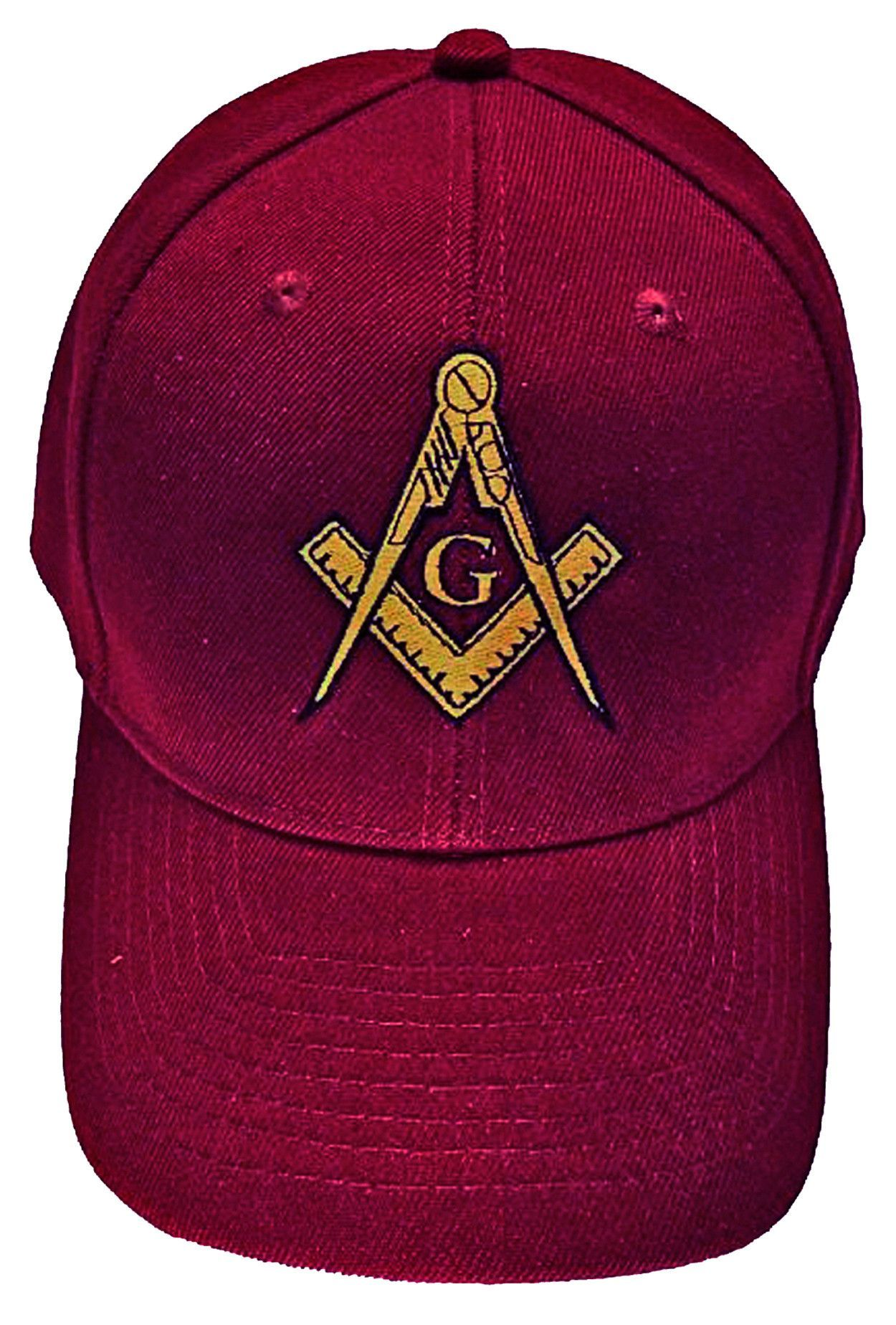36ddcff55 Mason Hat Maroon Baseball Cap with Masonic Logo Freemasons Shriners Prince  Hall Lodge Headwear