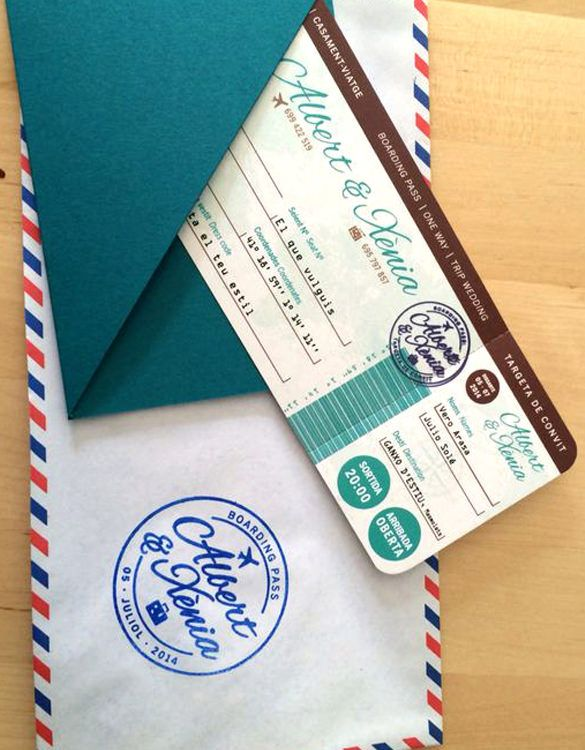 DIY Airplane Ticket Invitations