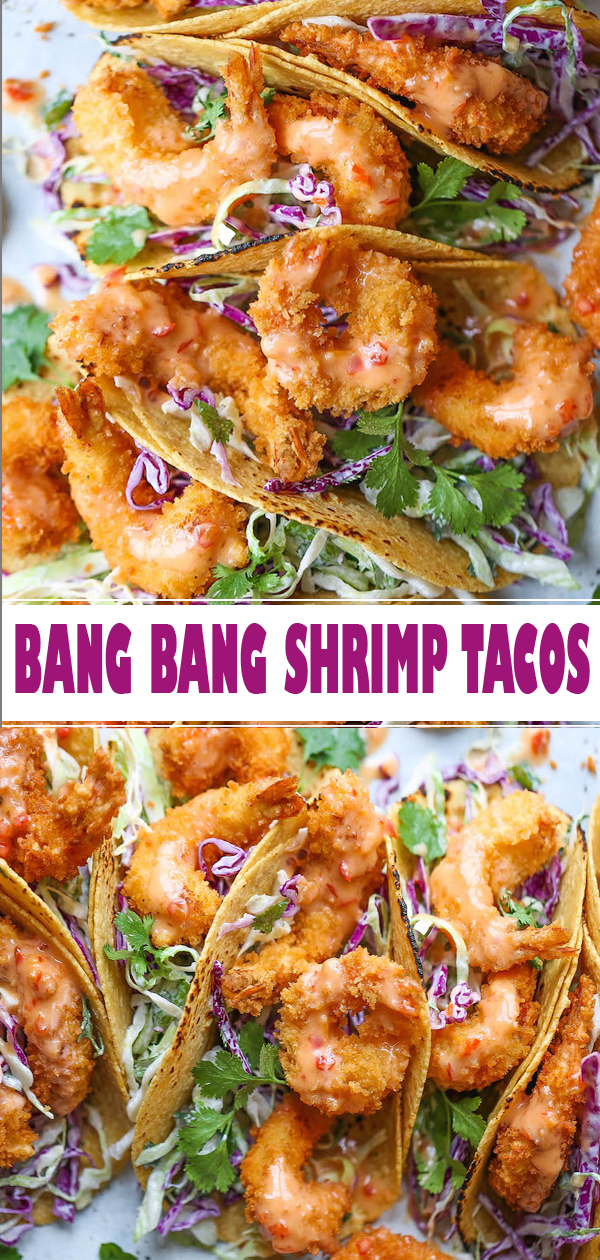 BANG BANG SHRIMP TACOS #recipes #recipe #cookrecipes #recipebook #recipeoftheday #tacos #taco #tacorecipes #shrimp #shrimprecipes #food #foodrecipes #shrimptacorecipes