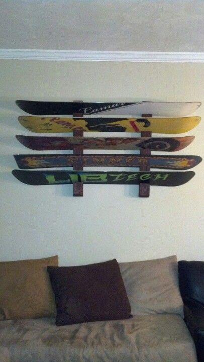Diy snowboard rack no seriously do it yourself inside diy snowboard rack no seriously do it yourself solutioingenieria Images