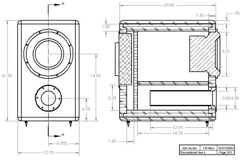 Hivi Sp10 Diy Subwoofer Enclosure Drawing Diy Subwoofer Subwoofer Box Design Subwoofer