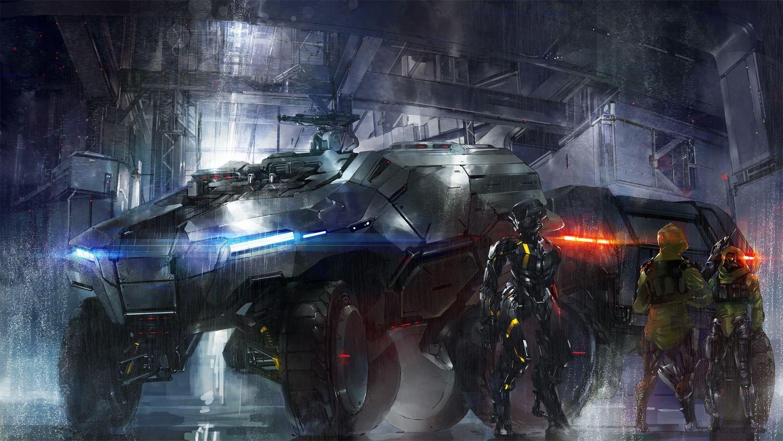 Anime Cyberpunk, combat vehicle, mech Anime & Manga