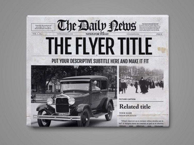 20+ Old Newspaper Template u2013 PSD, Indesign and Ai Format Dplex - old newspaper template