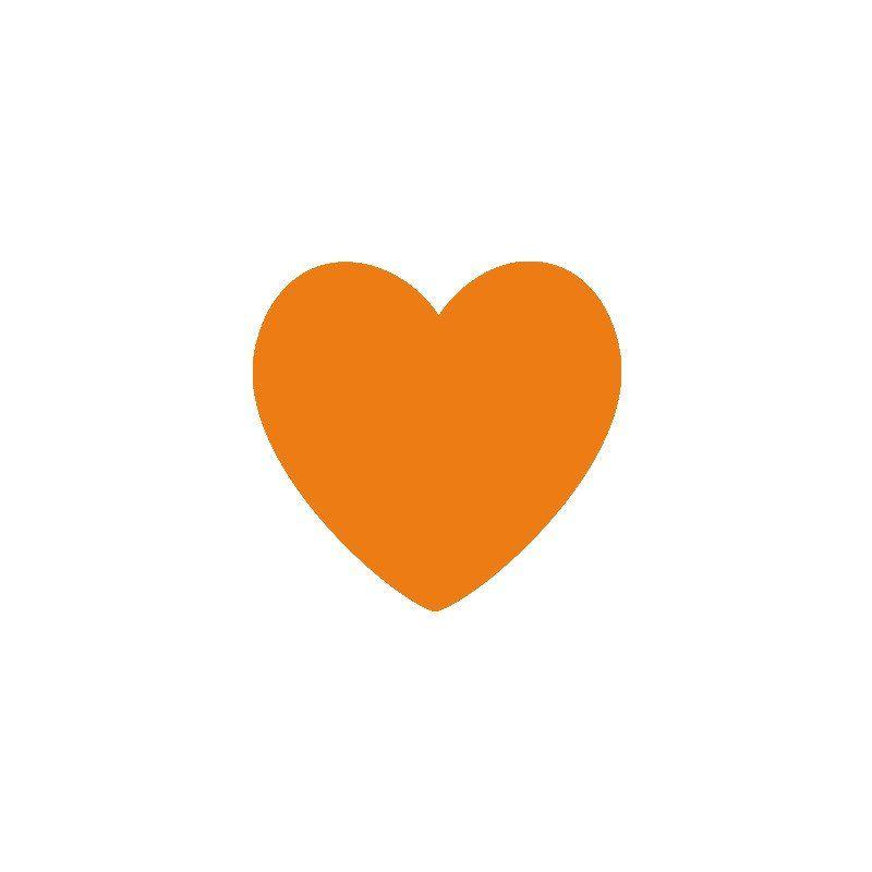 Orange Heart Vinyl Wall Decals Set Of 36 Heart Wall Stickers Heart Wall Decal Heart Wall Art