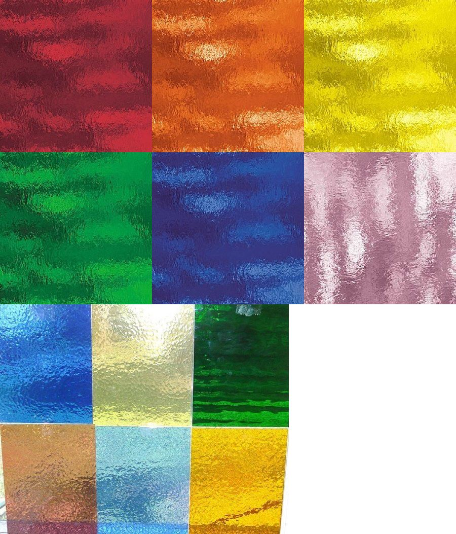 Stained Glass Supplies 4770 12 8 X 10 Color Variety Pack