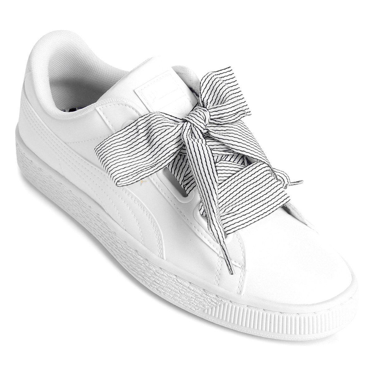 8904bafffd5 Tênis Puma Basket Heart Wn S Feminino - Branco