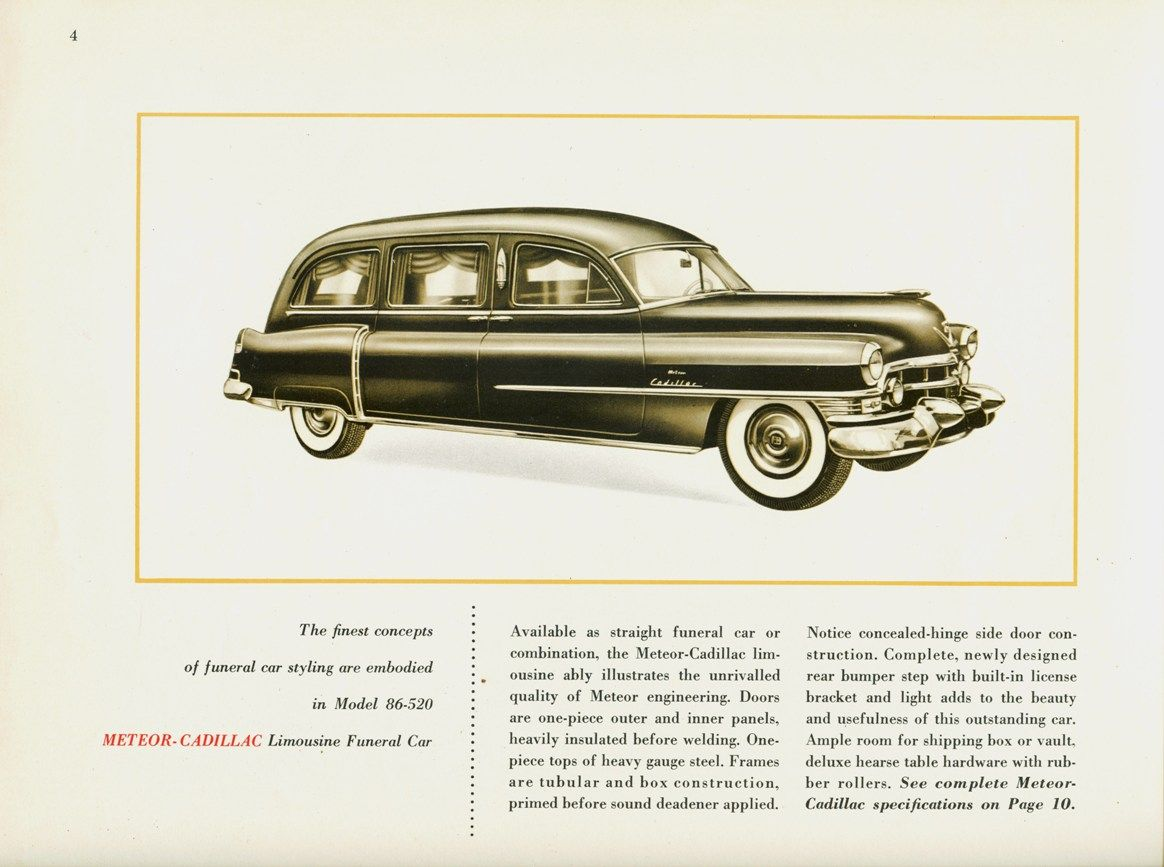 1952 cadillac funeral car by miller meteor