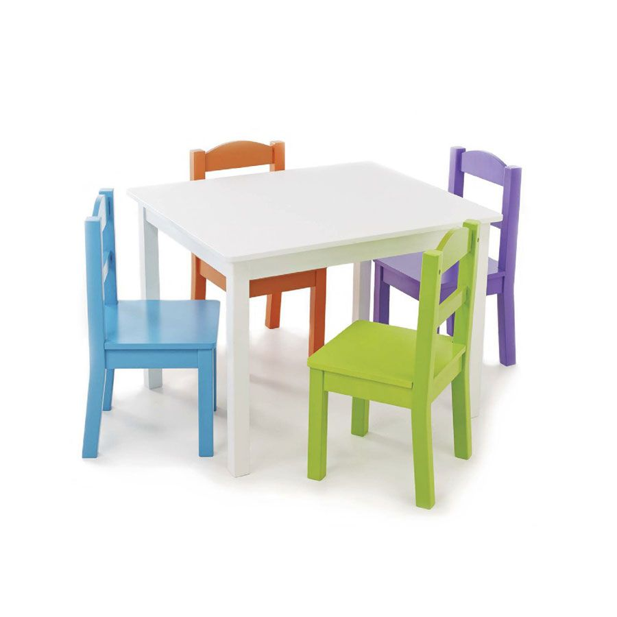 tot tutors brights wood table 4 chairs toys r us australia
