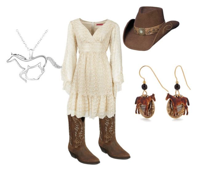 Gone Country...... by jujubee-964 on Polyvore featuring Betsey Johnson, Laredo, ASPCA, Silver Forest, country, women's clothing, women's fashion, women, female and woman