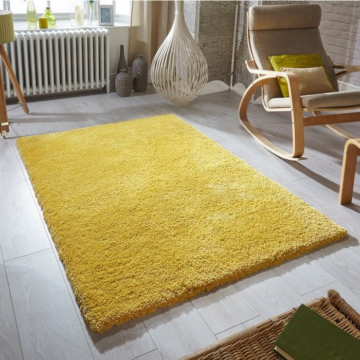 Super Softness Yellow Rug Gy