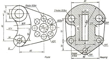Pin by SAM Iam on Mechanical drawings / Blueprints / CAD