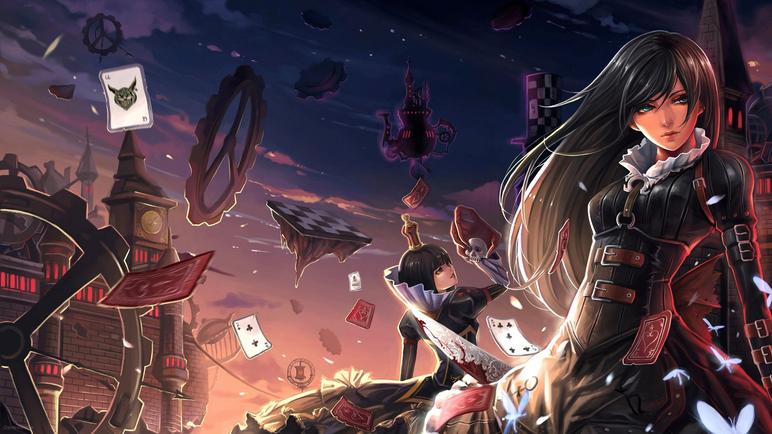 2560x1440 Wallpaper For Desktop Alice Madness Returns Dark Alice In Wonderland Alice Madness Returns Alice Madness