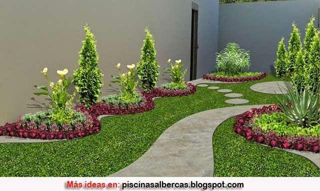 Jardines sencillos y peque os con piedras buscar con for Jardines pequenos con jardineras