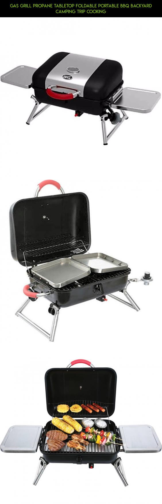 gas grill propane tabletop foldable portable bbq backyard camping