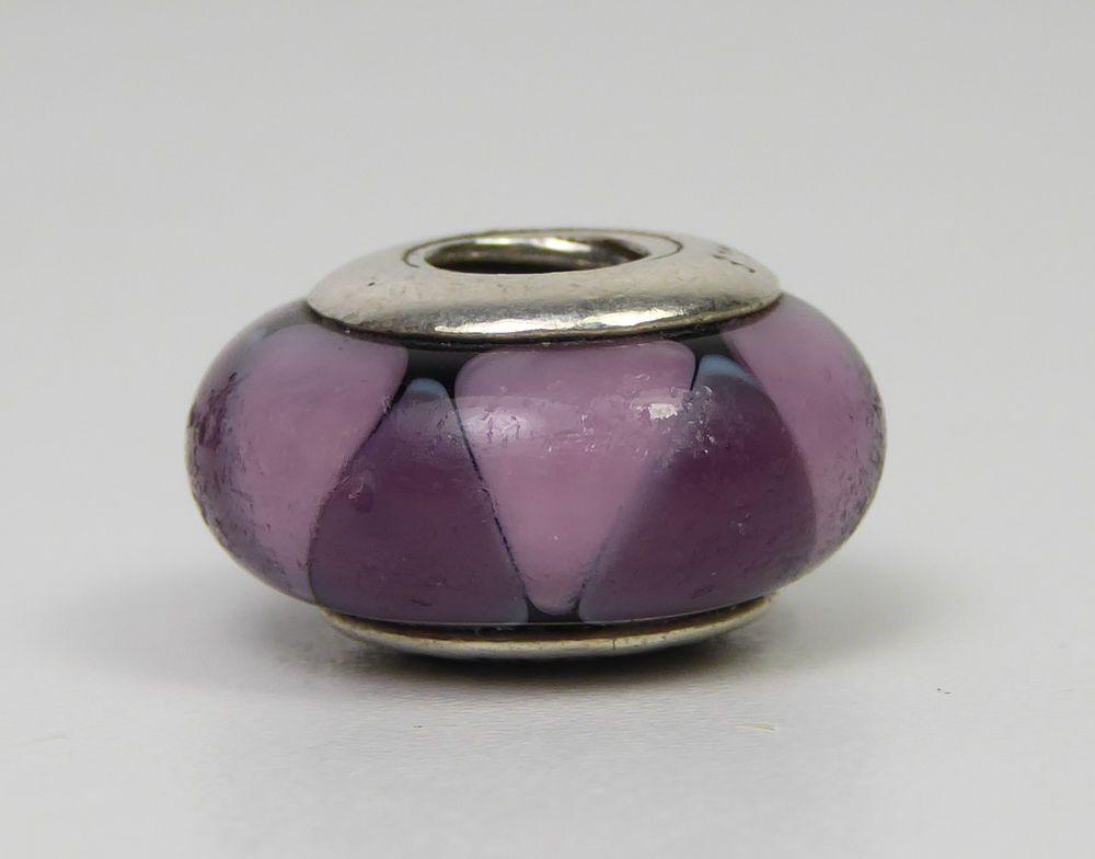925 ALE Pandora Silver Charm - Murano Glass Bead in Purple & Pink 2016883 #PANDORA #SlideSlider