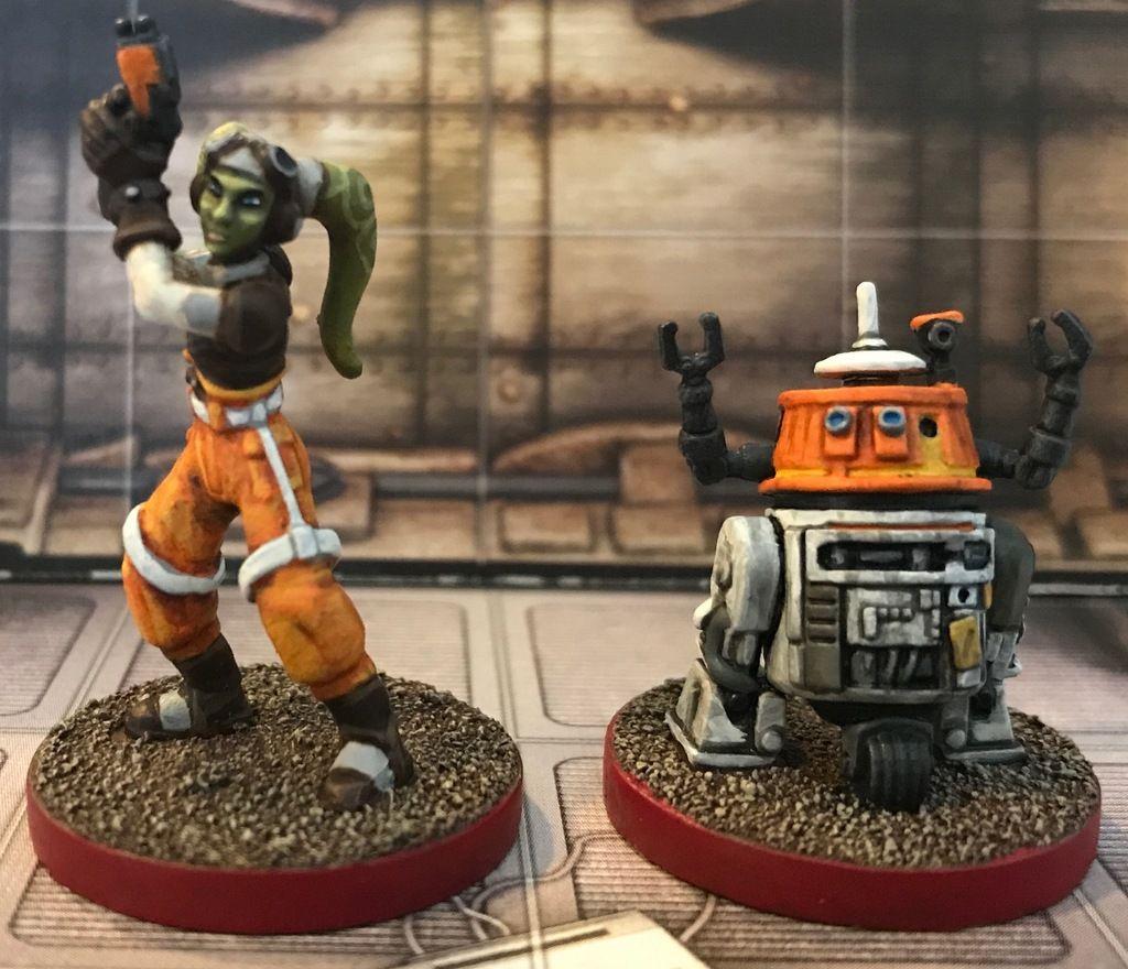 Star Wars Assaut sur l/'Empire Fantasy Flight games Hera Syndulla et C1-10P
