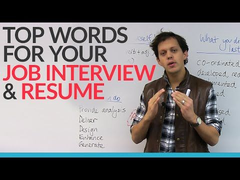 how to pass a job interview vocabulary words you should know