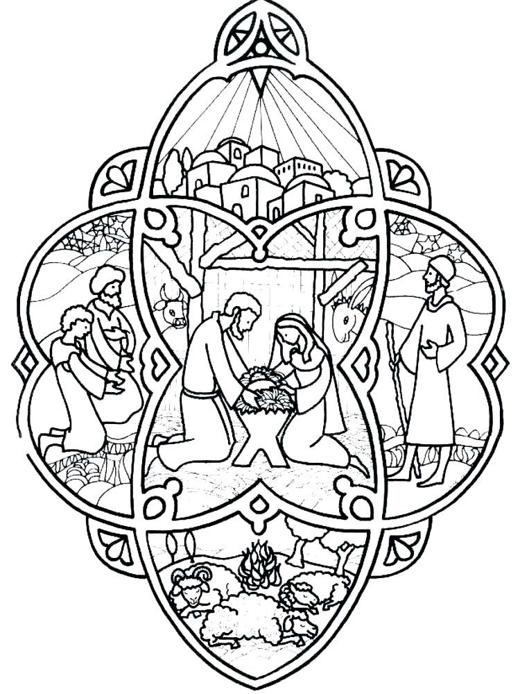 Stained Glass Nativity Scene Coloring Pages The Following Is Our Collection Of Nativity Sce Nativity Coloring Pages Christmas Coloring Pages Nativity Coloring