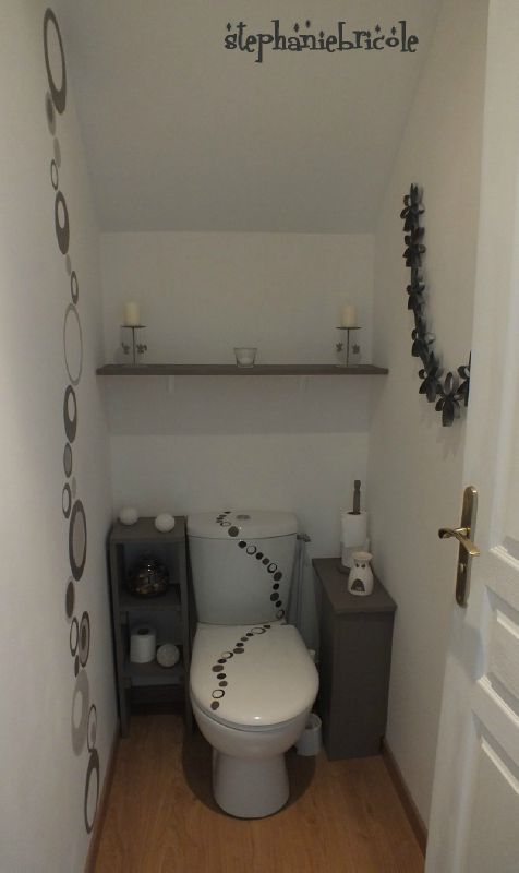 tuto diy id es pour d corer les wc defi deco diy. Black Bedroom Furniture Sets. Home Design Ideas