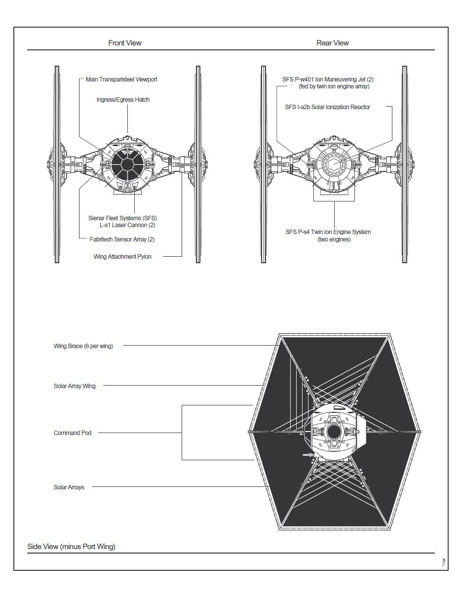 tie fighter schematic in case you know you want to build one or something  [ 934 x 1209 Pixel ]