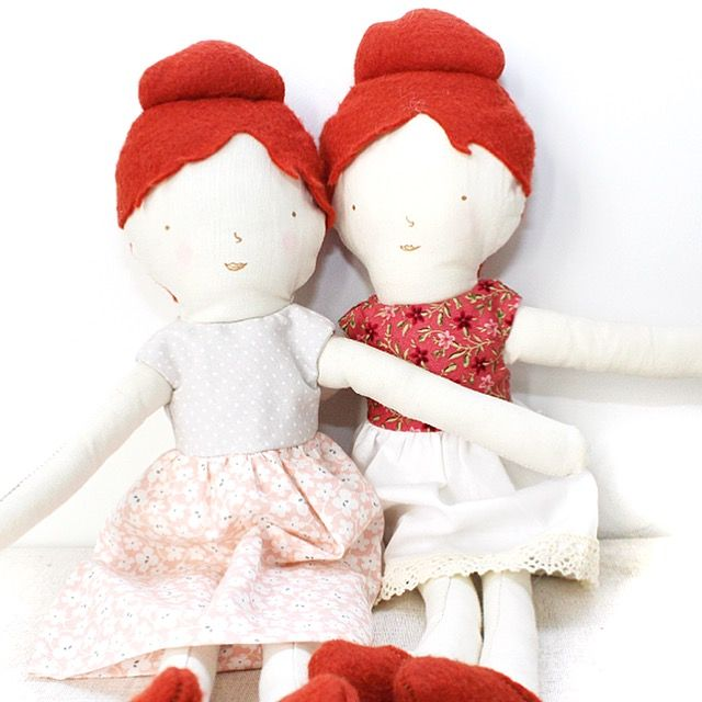 Just two in stock for holiday shipping- gorgeously handcrafted Addie dolls :) #handmadedolls #kidsgifts