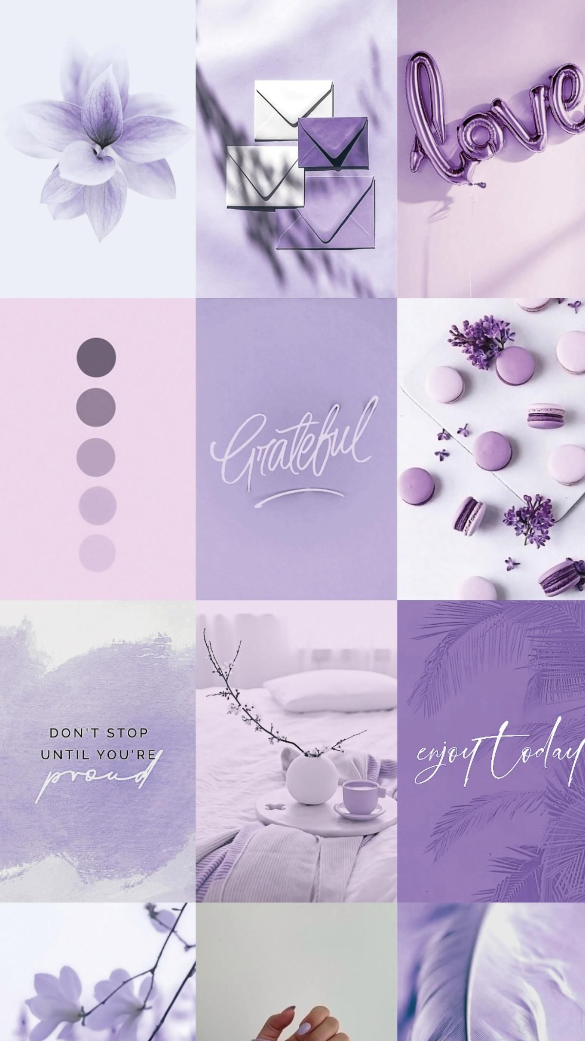 Lavender Purple Accent Wall Idea - Picture Wall Collage Pack