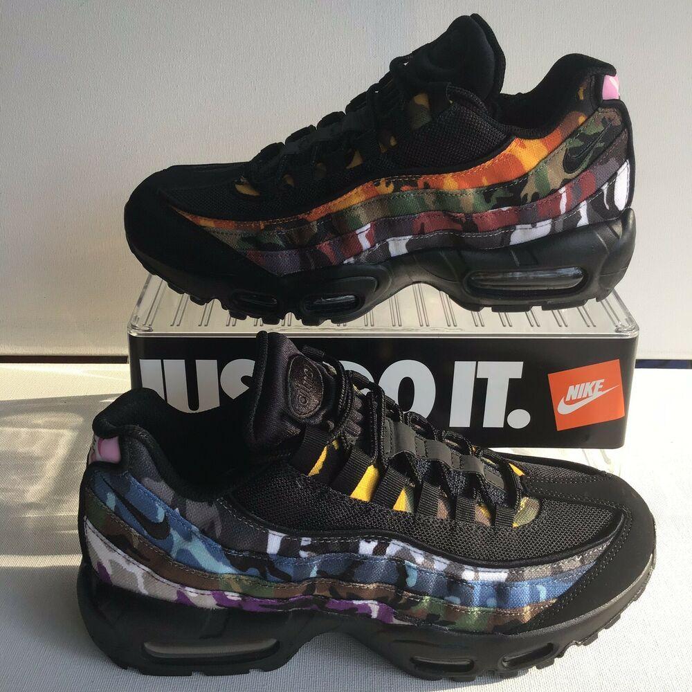 brand new 73256 c67d9 NIKE AIR MAX 95 ERDL PARTY BLACK-MULTI COLOR MNS.SZ.10.5  WMNS.12 (AR4473  001)  shoes  kicks  fashion