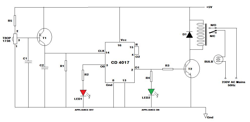 Remarkable Remote Control Switch Circuit Basic Electronics Wiring Diagram Wiring Digital Resources Hetepmognl