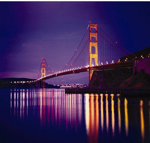 Purple twilight.