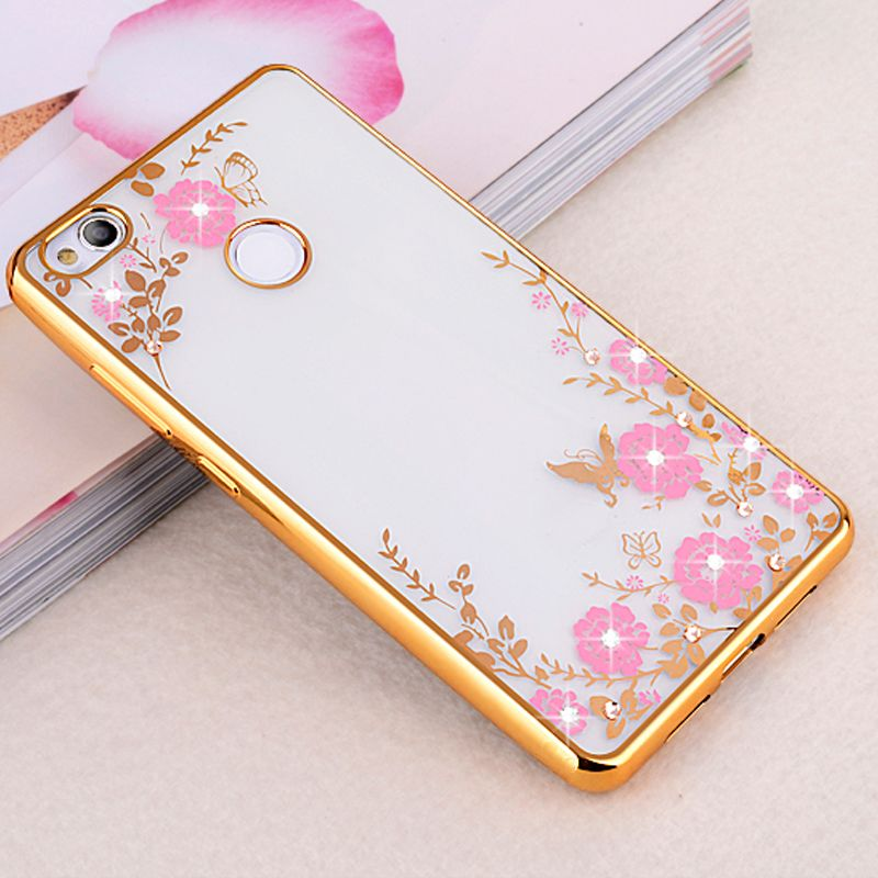 Diamants Rose Conception Tpu Cas Pour Huawei P8 Lite 3CGvBZpSlW