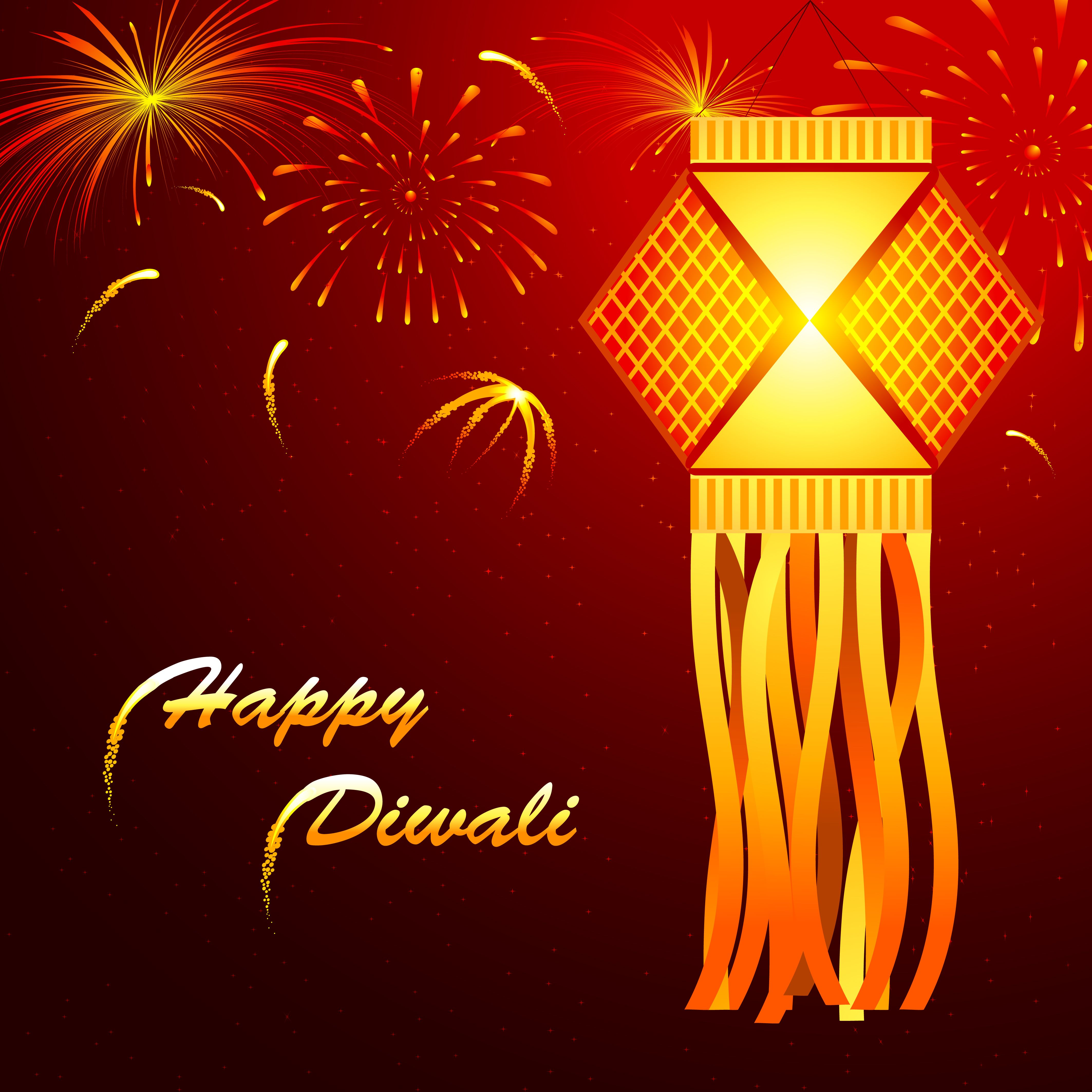 Here we provide you worlds best collection of the happy diwali abstract beautiful glowing lantern happy diwali card with beautiful fireworks in background vector card template kristyandbryce Gallery