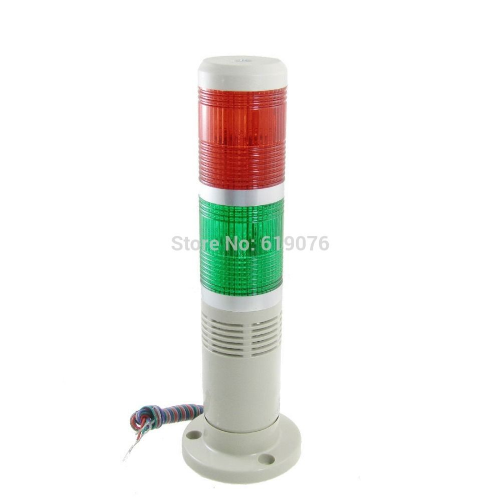 Dc12v Red Green Signal Industrial Tower Lamp Warning Stack Light With Buzzer Alarm Apparatus Buzzer Light Red Green